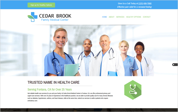 Website Design  Servivces For Health Professionals
