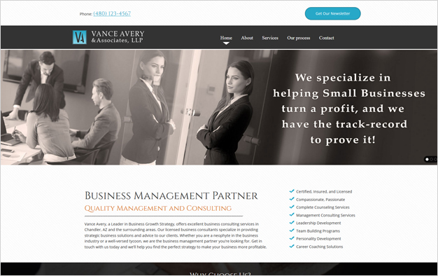 Website Example - Vance Avery & Associates, LLP
