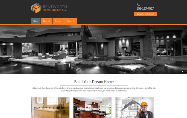 Website Example - Bentworth Home Builder, LLC