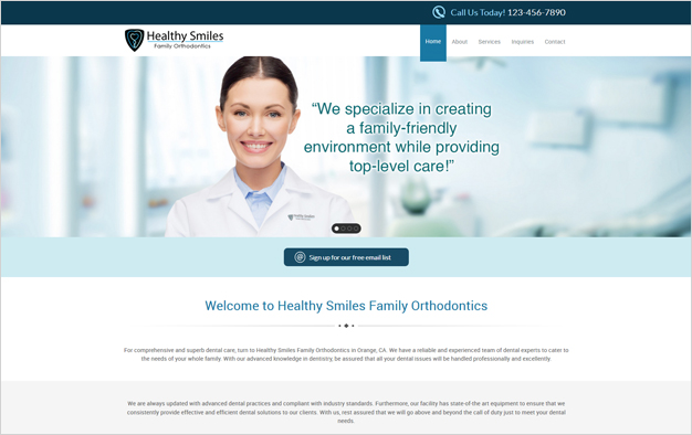 Website Design Services for Orthodontics