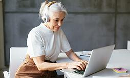 businesswoman checking her emails on the computer