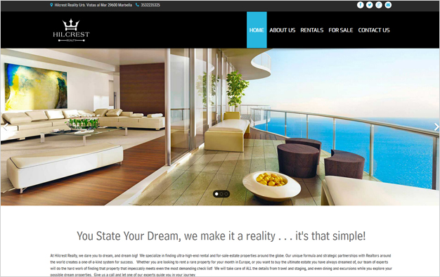 Website Example - Hilcrest Realty